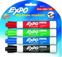 Expo Dry Eraser Markers 4 Pack