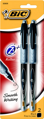 Bic Z4 Roller Ball Pen Black 2 Pack