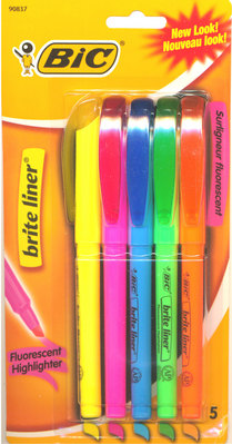 Bic Briteliner Highlighter 5 Pack