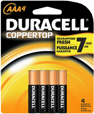 Duracell Aaa 4 Pack Batteries Coppertop