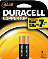 Duracell Aaa 2 Pack Batteries Coppertop