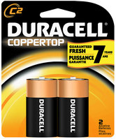 Duracell C 2 Pack Batteries Coppertop