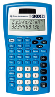 Texas Instruments TI 30X IIS Calculator, Blue