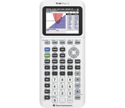 Texas Instruments TI 84 Plus CE Graphing Calculator, White