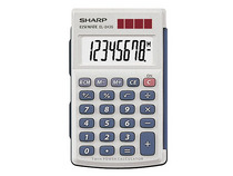 Sharp El 243 Sb Basic Twin Calculator