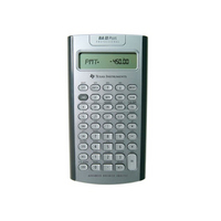 TI BA II Plus Calculator with Slide Case