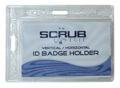 Two Way HorizontalVertical Clear Badge Holder, 4.25 x 3