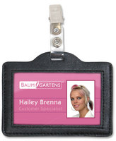 Horizontal Badge Holder With Clip