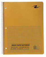 Scientific Wirebound Lab Book 11 X 8 12 20 White Paper 4X4 Quad Ruling 50 Sheets Brown Kraft Cover