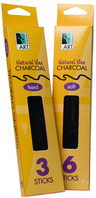Art Alternatives Natural Vine & Willow Charcoal Vine Charcoal Hard  3Box