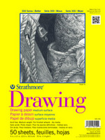 Strathmore Tape Bound Drawing Paper Pad, 300 Series, 50 Sheets (9 x 12)
