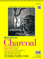 Strathmore Spiral Bound Charcoal Paper Pad, 300 Series, 32 Sheets (9 x 12)