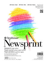 Strathmore Newsprint Paper Pad, 300 Series, 100 Sheets (18x24)
