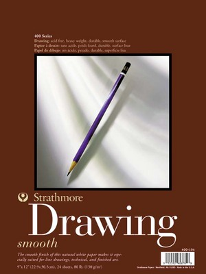 Strathmore Medium Surface Drawing Paper Pad, 400 Series (11 x 14)