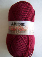 Patons Burgundy Wool Yarn