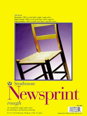 Strathmore Newsprint Pads Series 300 Rough 18 x 24