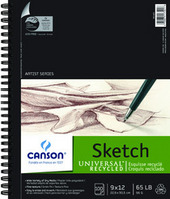 Canson Universal Recycled Sketch Pads 9 x 12