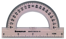 Protractor 4In 180 Degree Tinted
