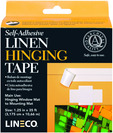 LinecoUniversity Products Self Adhesive Linen Hinging Tape 1.25 x 35 ft.  White