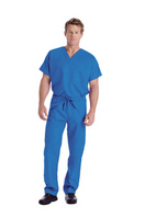 Reversible Unisex Scrub Top in Royal Blue