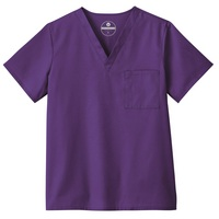 Unisex Vneck Scrub Top, Purple
