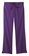 Womens Flare Leg Scrub Pant, Purple