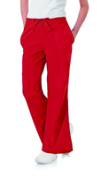 Womens Scrub Pants, XL, True Red