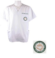 USF Unisex Scrub Top with Embroidery and Patch