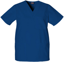 DentHyg Scrub Top Embroidered Color, Royal Blue