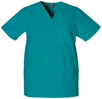 Sonography Scrub Top Embroidered Color, Teal