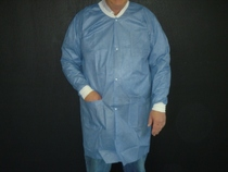 Disposable Lab Coat Blue