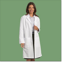 Unisex Poplin Lab Coat, White