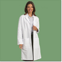 "Unisex 80/20 Poplin Lab Coat, 41"", White, 3XL"