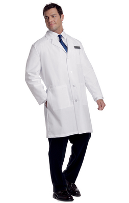 3187 Unisex Lab Coat White 39 Size Extra Small