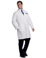 "3187 Unisex Lab Coat White 39"" Size Extra Small"
