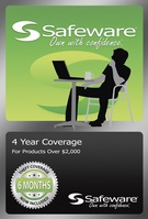 SAFEWARE PRODUCT PROTECTION PLAN, 4 YEAR COVERAGE (FOR PRODUCTS OVER $2,000)