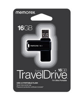 Memorex 16GB TravelDrive, Black