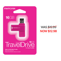 Memorex 16GB TravelDrive, Pink