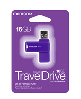 Memorex 16GB TravelDrive, Purple
