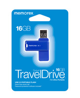 Memorex 16GB TravelDrive, Blue