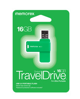 Memorex 16GB TravelDrive, Green