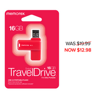 Memorex 16GB TravelDrive, Red