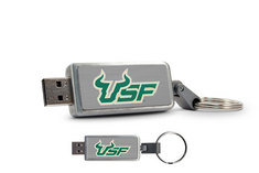 University of South Florida Custom Logo USB Drive Keychain 16GB