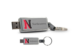 Northeastern University Custom Logo USB Drive Keychain 16GB