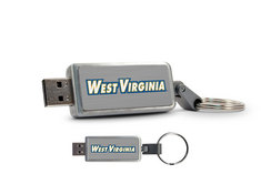 West Virginia University Custom Logo USB Drive Keychain 16GB