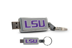 Louisiana State University Custom Logo USB Drive Keychain 16GB