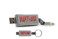 University of Maryland Custom Logo USB Drive Keychain 16GB