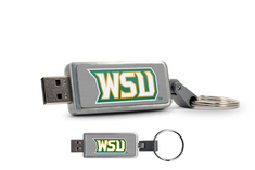 Wright State Custom Logo USB Drive Keychain 16GB