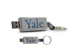 Yale University Custom Logo USB Drive Keychain 16GB