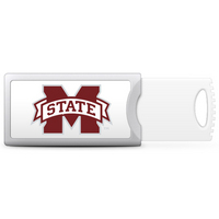 Mississippi State University Custom Logo USB Drive Push 32GB Silver